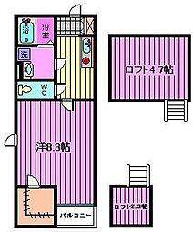ミロディア[2階]の間取り