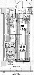 アクアプレイス京都西院[5階]の間取り