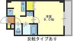 グランデージ長田東[3階]の間取り