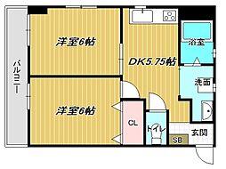 兵庫県神戸市垂水区清水が丘1丁目の賃貸マンションの間取り