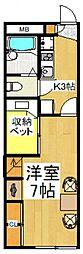 レオパレスサンライズ[2階]の間取り