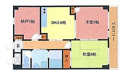埼玉県さいたま市緑区東浦和5丁目の賃貸マンションの間取り