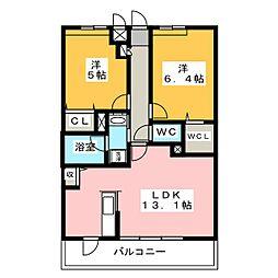 コンフォート結[2階]の間取り