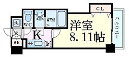 Luxe新大阪SOUTH 4階1Kの間取り