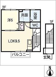 仮)洞町向山賃貸住宅[2階]の間取り