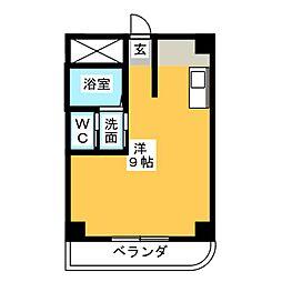 ブルーワンマンション[2階]の間取り