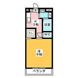 シンフォニー大園[1階]の間取り