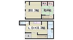 [一戸建] 兵庫県神戸市中央区中島通3丁目 の賃貸【兵庫県 / 神戸市中央区】の間取り
