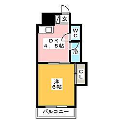 エルポルテ博多[4階]の間取り