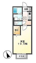 愛知県名古屋市中川区南脇町3丁目の賃貸アパートの間取り