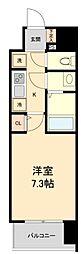 仙台市営南北線 広瀬通駅 徒歩4分の賃貸マンション 5階1Kの間取り