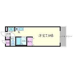 クリークサイドマンションA棟[2階]の間取り