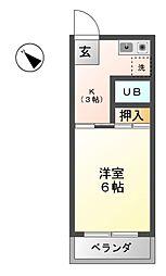 サンメゾン24 C[3階]の間取り
