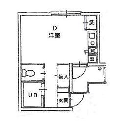 ランドフォレスト稲毛[2階]の間取り