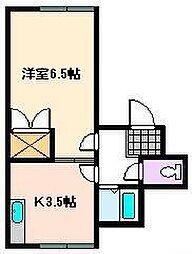 メゾン宮崎[1階]の間取り