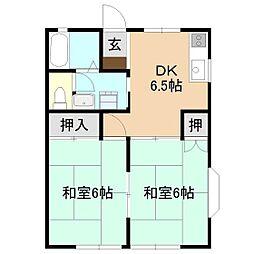 ドミュールA[2階]の間取り
