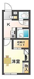 滋賀県大津市坂本7丁目の賃貸アパートの間取り