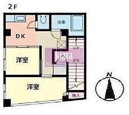 ジェービー横浜黄金町ビル[2階]の間取り