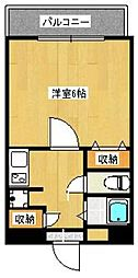 ロイヤルコンフォート荒江II[3階]の間取り