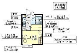 千葉県船橋市宮本7丁目の賃貸アパートの間取り
