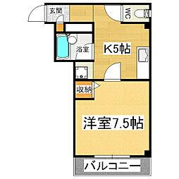 ダリヤビル[2階]の間取り