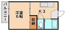 福岡県春日市春日公園7丁目の賃貸アパートの間取り