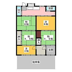 [一戸建] 愛知県一宮市和光2丁目 の賃貸【/】の間取り