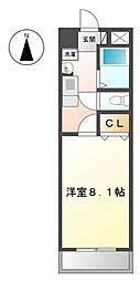 愛知県名古屋市中村区稲葉地本通1の賃貸マンションの間取り