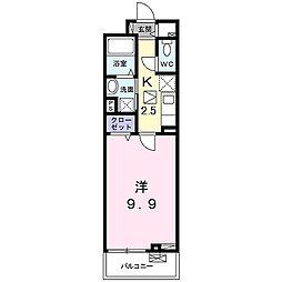 山陽電鉄本線 手柄駅 徒歩14分の賃貸アパート 1階1Kの間取り