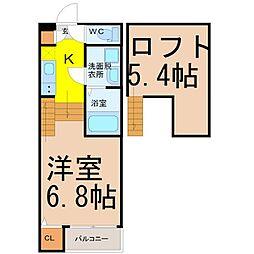 ハーモニーテラス高道町(ハーモニーテラスタカミチチョウ)[1階]の間取り