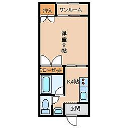 リーブル伏見台[1階]の間取り