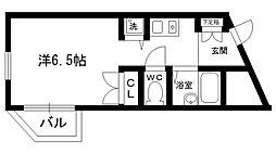 ネオディー夙川[101号室]の間取り