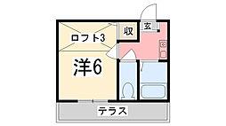 兵庫県姫路市若菜町2丁目の賃貸アパートの間取り