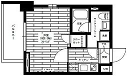 東京都港区芝2丁目の賃貸マンションの間取り