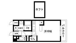 ティーズレアル[2階]の間取り