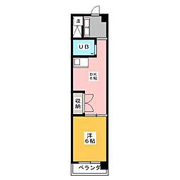 コーポラスチヨダ A棟 2階1DKの間取り