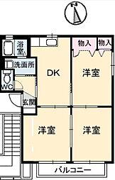 アルファパークA棟[2階]の間取り