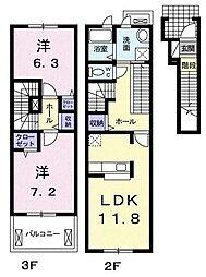 キャトルフィーユ[2階]の間取り