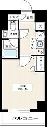 京急本線 梅屋敷駅 徒歩10分の賃貸マンション 5階1Kの間取り