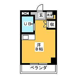 GREEN GABLES[3階]の間取り