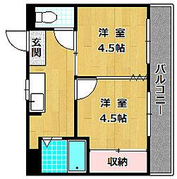 M'PLAZA津田駅前七番館[3階]の間取り