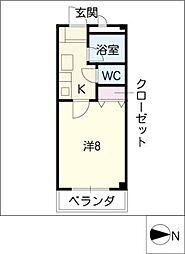 ドミール神宮[1階]の間取り