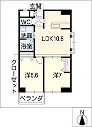 葵21ビル[6階]の間取り