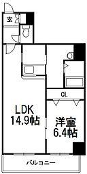 エステラ東札幌[901号室]の間取り