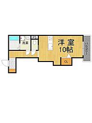 ヴィラ甲子園洲鳥荘[1階]の間取り