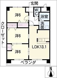 マイズフォレスト[4階]の間取り