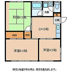 村澤アパート[1階]の間取り