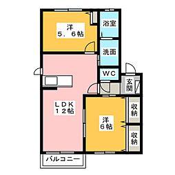 並木A・B[2階]の間取り