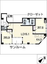 8HAUS[2階]の間取り