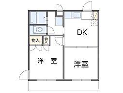 神奈川県相模原市中央区清新7丁目の賃貸マンションの間取り